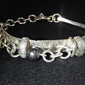 Украшения handmade. Livemaster - original item Sterling silver bracelet amethyst hematite. Handmade.