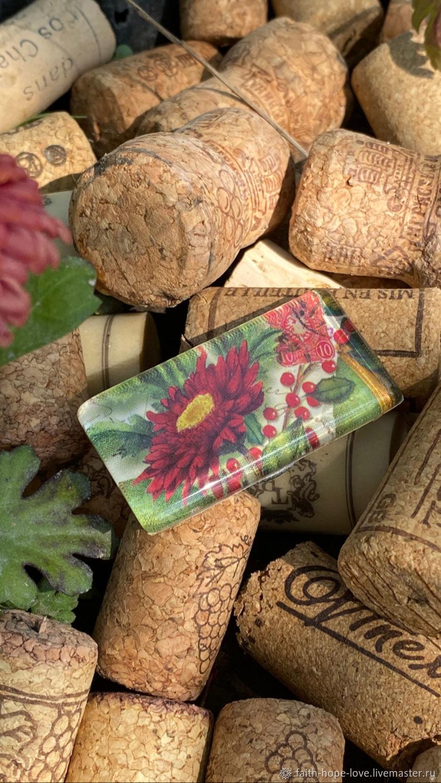 Frozen chrysanthemum. Designer brooch on a magnet, Vintage brooches, Vladivostok,  Фото №1
