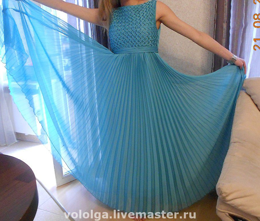 Платье из ткани плиссе сшить 69