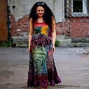 Одежда ручной работы. Ярмарка Мастеров - ручная работа Платье ПАЛИТРА. Handmade.