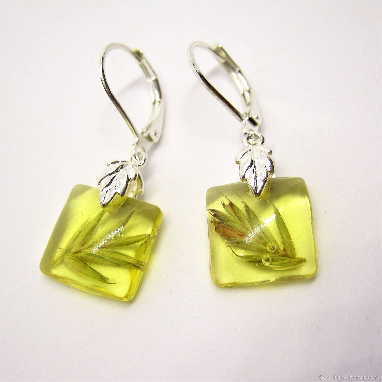 86c1101f821fe6 Livemaster - handmade. Buy Earrings 'Grass'.Earrings, botanical jewelry ·  handmade.