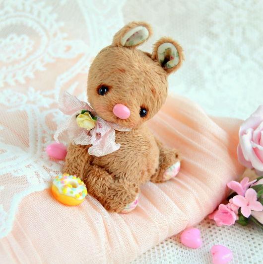 Мишки Тедди ручной работы. Ярмарка Мастеров - ручная работа. Купить Пряник (6 см). Handmade. Коричневый, миник, малыш