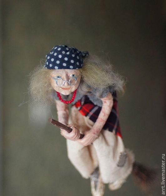 Сказочные персонажи ручной работы. Ярмарка Мастеров - ручная работа. Купить Баба Яга -Добрый дух Авторская кукла. Handmade.