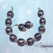 Украшения handmade. Livemaster - original item Bracelet and earrings Silver glitter. Handmade.
