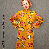"Одежда handmade. Livemaster - original item Knitted coat ""Autumn grass"". Handmade."