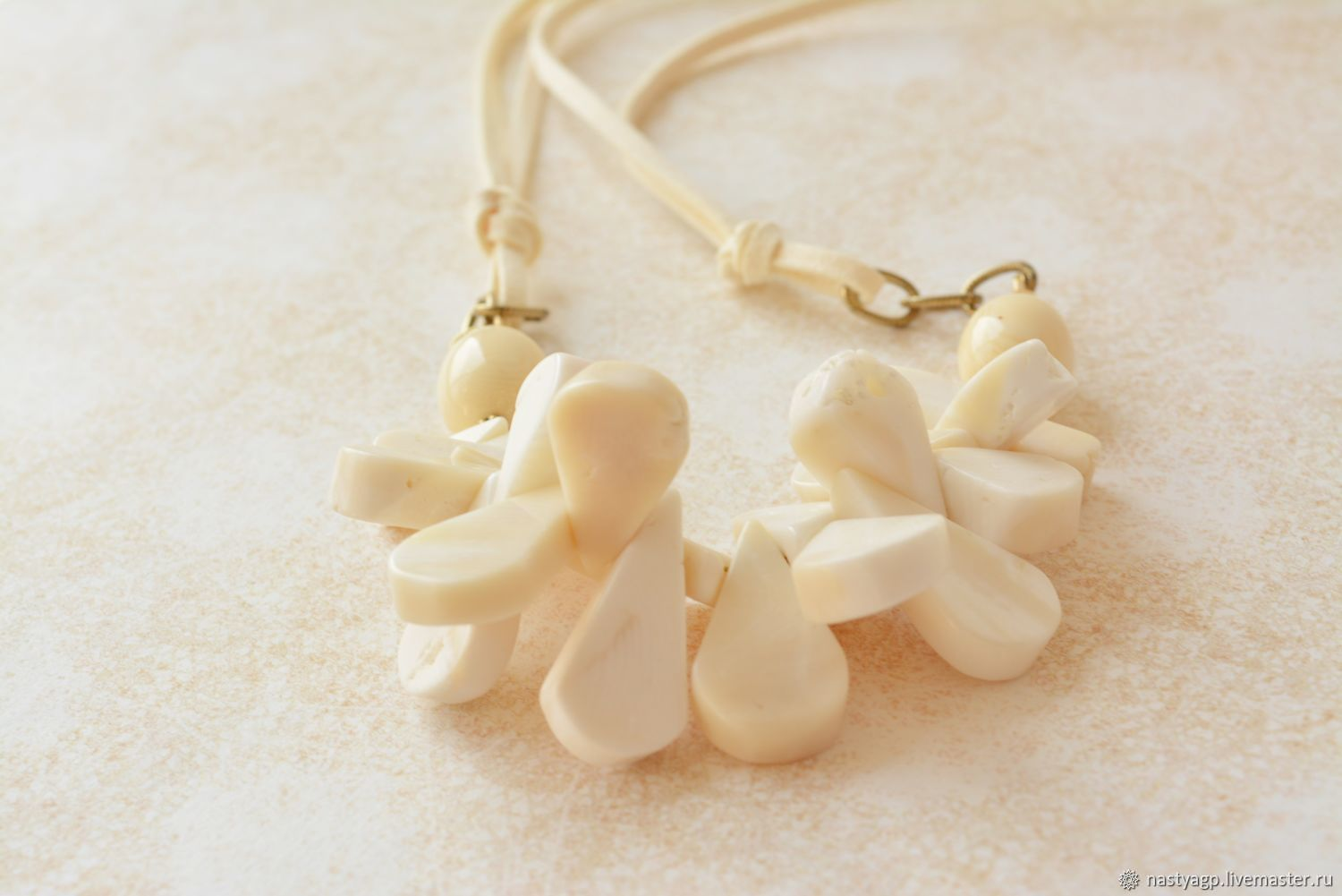 Necklace of coral ivory Cream to buy, Necklace, Moscow,  Фото №1
