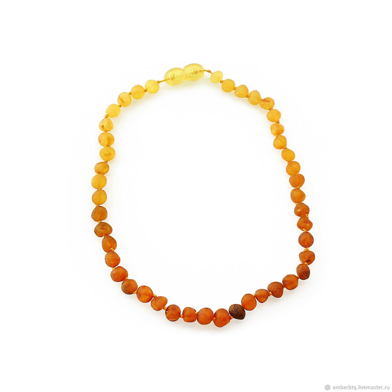 Children's beads made of real amber ' Peach», Beads2, Kaliningrad,  Фото №1