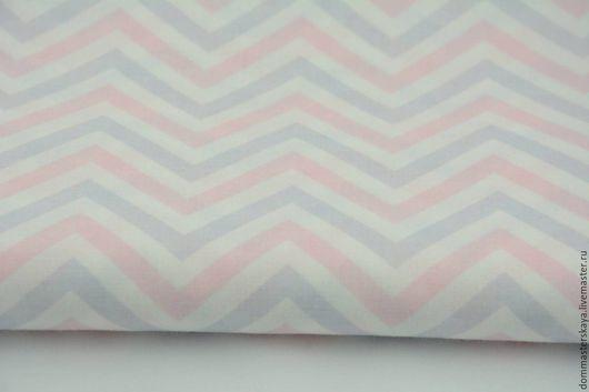 Шитье ручной работы. Ярмарка Мастеров - ручная работа. Купить 100% хлопок, Польша 2, шеврон розовый. Handmade. Хлопок