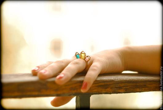 Кольца ручной работы. Ярмарка Мастеров - ручная работа. Купить кольцо Город. Handmade. Дом, необычное украшение, желтый