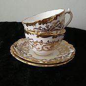 Винтажные кружки ручной работы. Ярмарка Мастеров - ручная работа Coalport английская фарфоровая редкая чайная пара. Handmade.