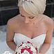 Свадебные цветы ручной работы. Брошь-букет невесты  КРАСНЫЙ + АЙВОРИ. Марина Бруня. Ярмарка Мастеров.