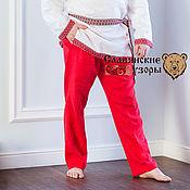 Одежда handmade. Livemaster - original item Pants mens red. Handmade.