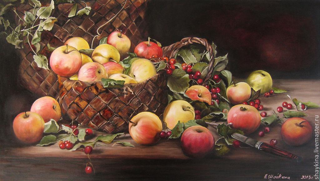 Купить Картина маслом . Яблочный Спас - картина, картина ... Натюрморты Маслом Для Кухни