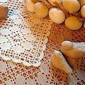 Для дома и интерьера ручной работы. Ярмарка Мастеров - ручная работа Две салфетки с цветочным узором. Handmade.
