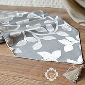 Для дома и интерьера handmade. Livemaster - original item Path on the table with tassels Silver leaves. Handmade.