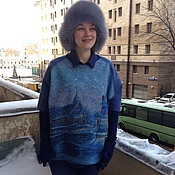 Одежда handmade. Livemaster - original item Felted sweatshirt Happy New Year!. Handmade.