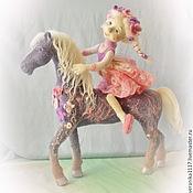 """Куклы и игрушки ручной работы. Ярмарка Мастеров - ручная работа Авторская композиция из шерсти """"Розовый рассвет"""". Handmade."""
