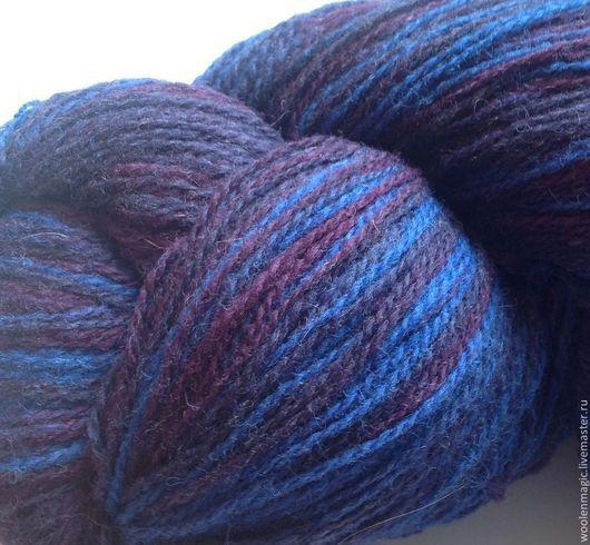 Вязание ручной работы. Ярмарка Мастеров - ручная работа. Купить КАУНИ  Blue-violet (blue lilla)   8/2. Handmade. Шерсть
