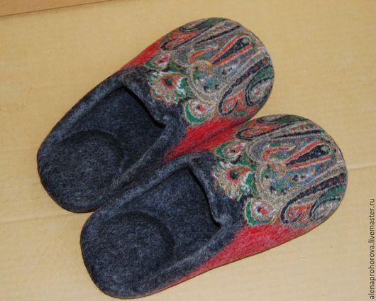 """Обувь ручной работы. Ярмарка Мастеров - ручная работа. Купить Тапочки валяные  """"Царские"""". Handmade. Тапочки, Тапочки ручной работы"""