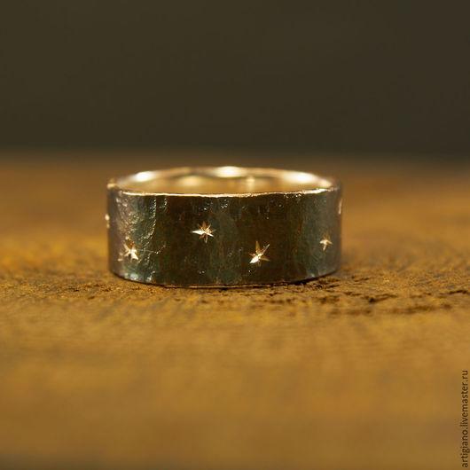 Кольца ручной работы. Ярмарка Мастеров - ручная работа. Купить Кованое кольцо Ночное небо. Handmade. Кольцо ручной работы
