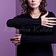 Платья ручной работы. Платье с косами. Katerina Kulida. Интернет-магазин Ярмарка Мастеров. Маленькое черное платье, черное платье