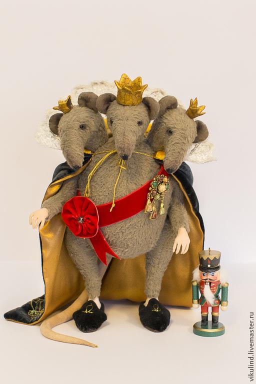 Мишки Тедди ручной работы. Ярмарка Мастеров - ручная работа. Купить Мышиный Король. Handmade. Серый, крыса, Новый Год