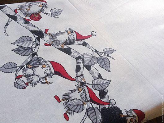 Шитье ручной работы. Ярмарка Мастеров - ручная работа. Купить Плотный хлопок 150 ширина для дорожки на стол Гномы в гнезде. Handmade.