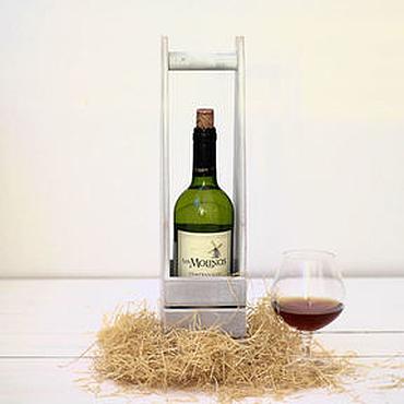 Для дома и интерьера ручной работы. Ярмарка Мастеров - ручная работа Корзинка для вина. Handmade.