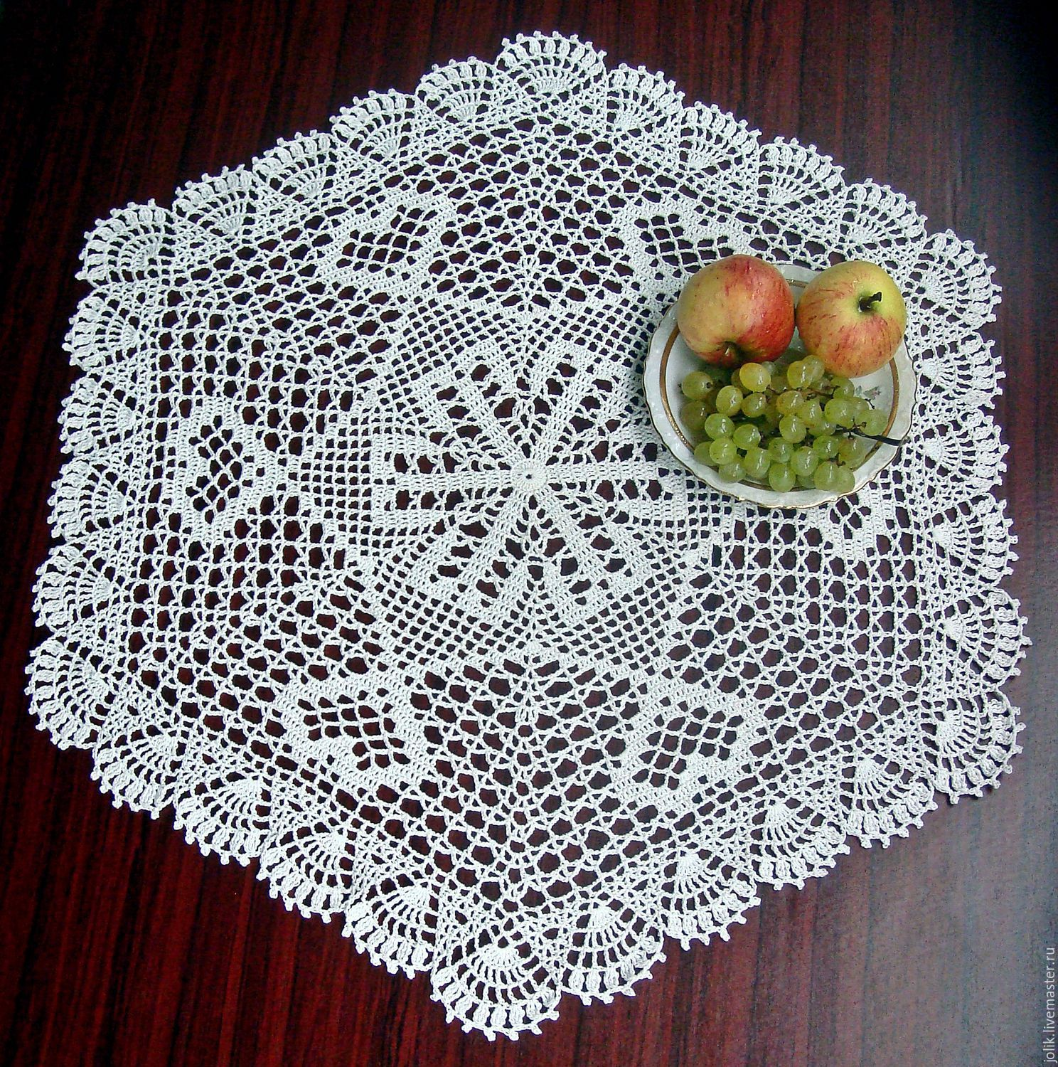 Large Hexagonal Doily Crocheted Shop Online On Livemaster With