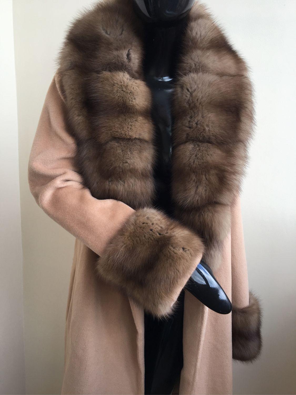Пальто с куницей пальто с мехом Куницы, Пальто, Москва, Фото №1