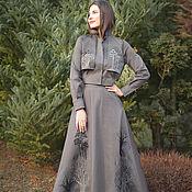 handmade. Livemaster - original item Embroidered suit with skirt