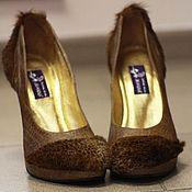 """Обувь ручной работы. Ярмарка Мастеров - ручная работа Туфли """"Пони"""" ручной работы из натуральной кожи и меха. Handmade."""