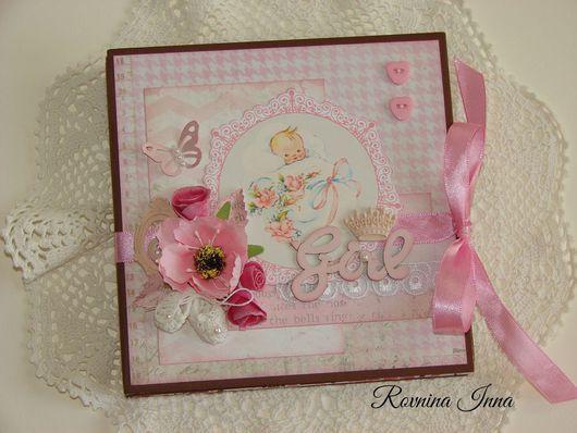 """Подарки для новорожденных, ручной работы. Ярмарка Мастеров - ручная работа. Купить Альбомчик """"Baby Girl"""" в подарочной коробке. Handmade."""