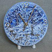 """Для дома и интерьера ручной работы. Ярмарка Мастеров - ручная работа Часы  """" Синяя зима """". Handmade."""