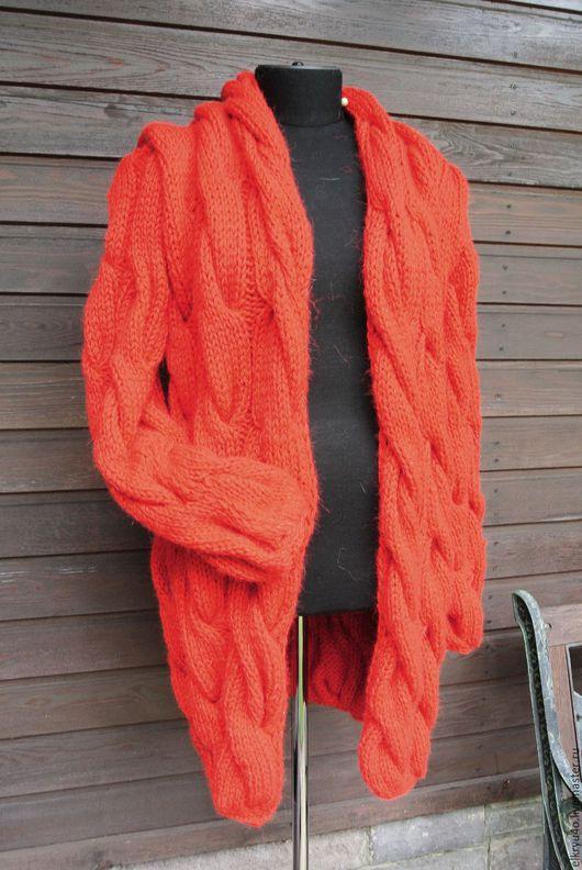Верхняя одежда ручной работы. Ярмарка Мастеров - ручная работа. Купить Пальто Зимний вариант. Handmade. Ярко-красный