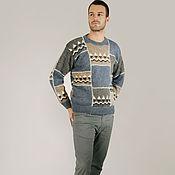 Одежда ручной работы. Ярмарка Мастеров - ручная работа Sirogojno style мужской джемпер, модель 6291. Handmade.