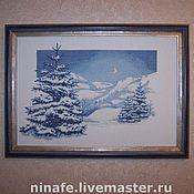 """Картины и панно ручной работы. Ярмарка Мастеров - ручная работа Вышитая картина """"Зима"""". Handmade."""