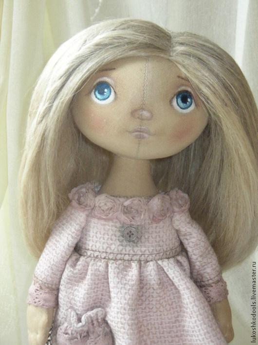 Куклы тыквоголовки ручной работы. Ярмарка Мастеров - ручная работа. Купить Варенька - иду домой..... Handmade. Бледно-розовый