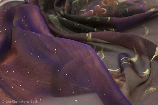 Диана Чентукова. Батик. Diana Chentukova. Batik. платок батик, батик платок, платок шелковый батик, платок с росписью, платок расписной, шелковый платок батик, шелковый батик платок, платок из шелка