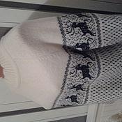 Одежда ручной работы. Ярмарка Мастеров - ручная работа джемпер с оленями. Handmade.
