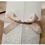 """Свадебный салон ручной работы. Ярмарка Мастеров - ручная работа Приглашение на свадьбу """"Cream"""". Handmade."""