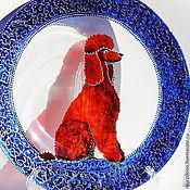 Тарелки ручной работы. Ярмарка Мастеров - ручная работа Тарелка Красный пудель. Handmade.