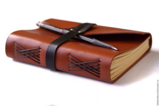 Блокноты ручной работы. Ярмарка Мастеров - ручная работа. Купить Кожаный блокнот, записная книжка из кожи, горчичный. Handmade. мужской