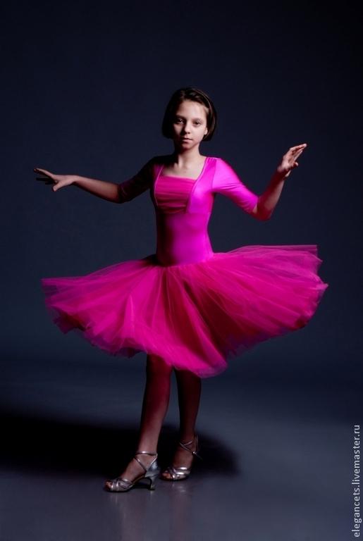 """Танцевальные костюмы ручной работы. Ярмарка Мастеров - ручная работа. Купить Рейтинговое платье для бальных танцев """"Strawberry candy"""". Handmade."""