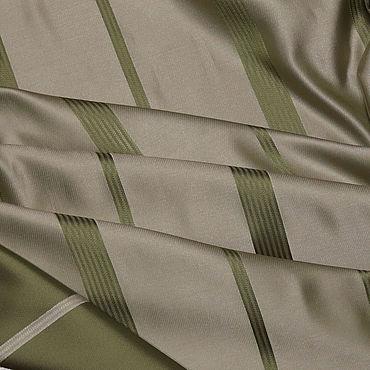 Текстиль ручной работы. Ярмарка Мастеров - ручная работа Светло-зеленая ткань с полосой.Отрез ткани для штор. Портьера. Handmade.