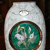 """Винтаж handmade. Livemaster - original item Красивая ваза для цветов """"Лилии"""" в стиле Art of Chokin, Япония. Handmade."""