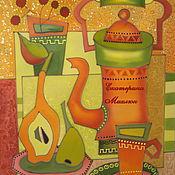 Картины и панно ручной работы. Ярмарка Мастеров - ручная работа Натюрморт с кофейником. Handmade.