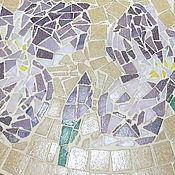"""Для дома и интерьера ручной работы. Ярмарка Мастеров - ручная работа Столик придиванный """" Ирисы"""" , мозаика. Handmade."""