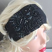 Аксессуары handmade. Livemaster - original item Headband elastic with embroidery. Handmade.