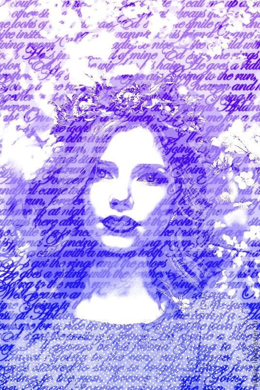 Портрет на холсте из слов, Подарки, Ногинск, Фото №1